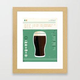 Stout Beer Art Framed Art Print