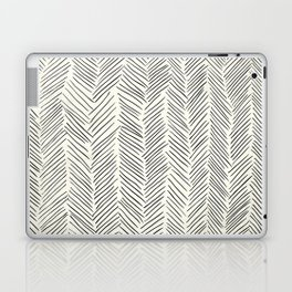 Herringbone Black on Cream Laptop & iPad Skin
