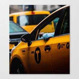 New York City Cab Canvas Print