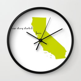 san francisco love Wall Clock
