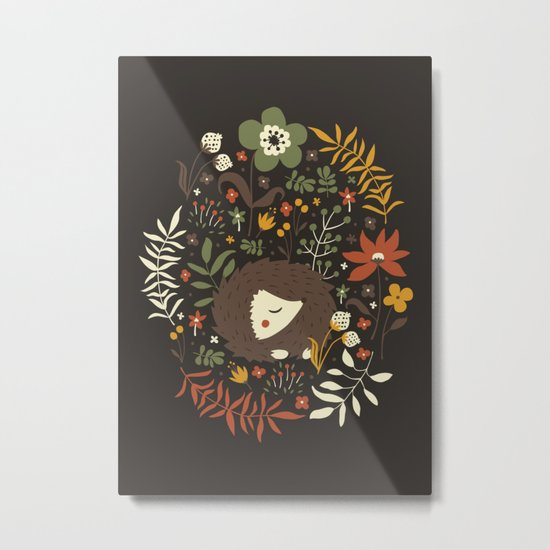 Cute Hedgehogs Metal Print