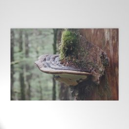 Magical Fungi World   Nature Photography Welcome Mat