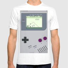 OLD GOOD GAMEBOY Mens Fitted Tee MEDIUM White