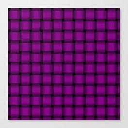 Purple Violet Weave Canvas Print