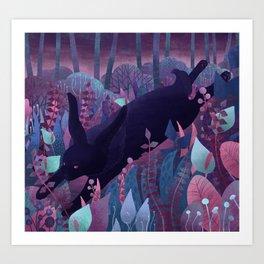 Follow The Black Rabbit Art Print
