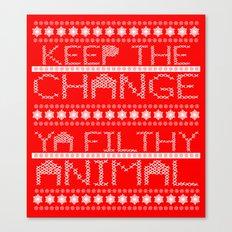 Keep the Change Christmas Sweater RonkyTonk Canvas Print