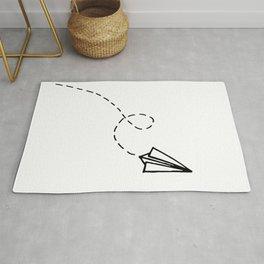 Send It // Simple Paper Airplane Drawing Rug