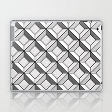 Squares in Gray Laptop & iPad Skin