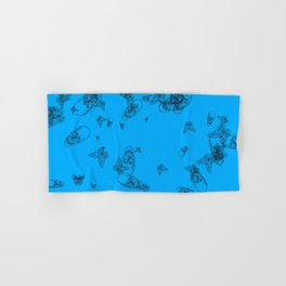 Blue Skulls and Butterflies Hand & Bath Towel