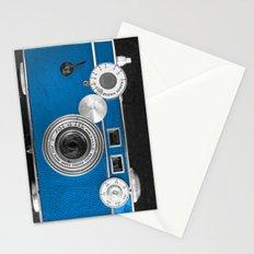 Dazzel blue Retro camera Stationery Cards