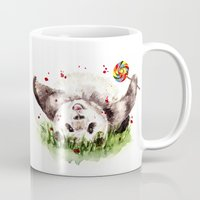 panda Mugs featuring Panda by Anna Shell