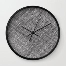 Crosshatch Pattern Wall Clock