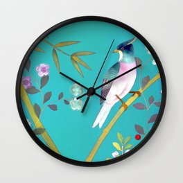 chinois 1731: turquoise Wall Clock
