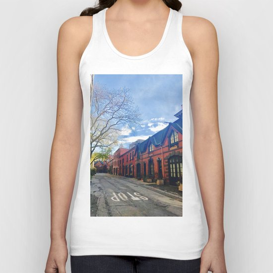 STOP For Brooklyn Heights Brownstone Red Brick Love Unisex Tank Top