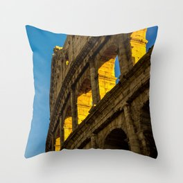 Sunset Over The Roman Colosseum. Throw Pillow
