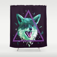 fox Shower Curtains featuring Fox by Roland Banrevi
