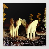 baby elephant Canvas Prints featuring Baby elephant by nicky2342
