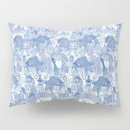 chinoiserie toile blue Pillow Sham