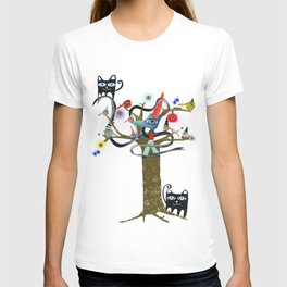 Delicious friendship birds and fox T-shirt