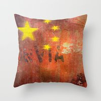 china Throw Pillows featuring China by Arken25