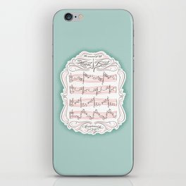 The Sound of My Heart Beat iPhone Skin