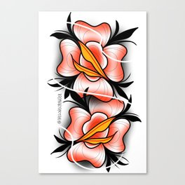 2 faced rose Canvas Print