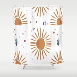 sunbursts Shower Curtain