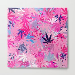Marijuana Cannabis Weed Pot Metal Print