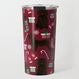 Boykin Spaniel christmas pattern dog breed presents stockings candy canes Travel Mug