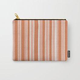 Peaches & Cream Stripes Carry-All Pouch