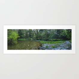 Mountain river in the woods of north Portugal Art Print