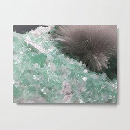 Mesolite with Fluorapophyllite Metal Print