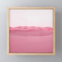 Pink Dunes Framed Mini Art Print