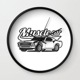 Muscle retro car Wall Clock
