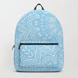 Sky Blue Boho Mandala Backpack