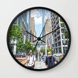 stop bus Wall Clock