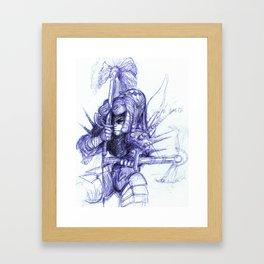 Warrior Kneel Framed Art Print