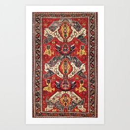 Dragon Sumakh Antique East Caucasus Kuba Rug Art Print
