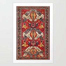 Dragon Sumakh Antique East Caucasus Kuba Rug Print Art Print