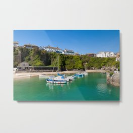 Newquay Harbour Metal Print