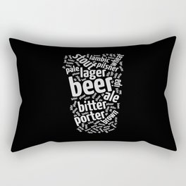 Beer Glass Word Rectangular Pillow