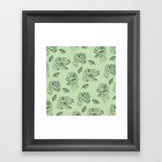 Dino Damage Framed Art Print