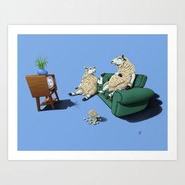 Sheep (Colour) Art Print