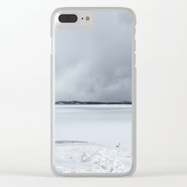 Serenity - Jackson Lake in April Clear iPhone Case