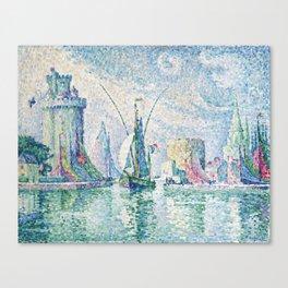 Paul Signac French, 1863-1935, Les Tours Vertes, La Rochelle. Canvas Print