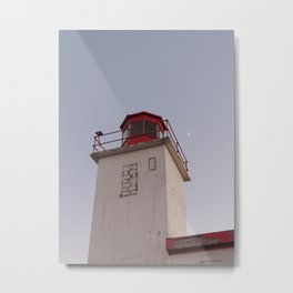 Lighthouse with the moon Metal Print