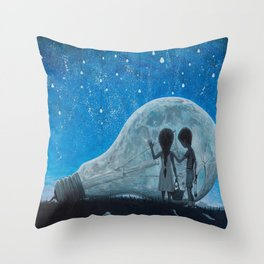 The Night We Broke The Moon Throw Pillow