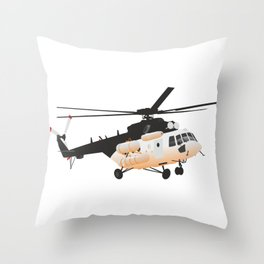 Russian Mi-171 Helicopter Throw Pillow
