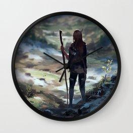 Stick saleswoman goes on an adventure! Wall Clock
