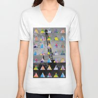postcard V-neck T-shirts featuring Postcard by [ g ]
